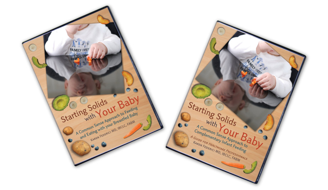 DVD covers for both the Parent and Professional Versions of Starting Solids with Your Baby.